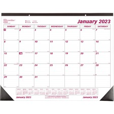 "Brownline Professional Monthly Desk/Wall Calendar - Julian - Monthly - 1 Year - January 2019 till December 2019 - 1 Month Single Page Layout - 22"" x 17"" - Desk Pad, Wall Mountable - White - Paper - Eyelet, Tear-off, Reinforced"