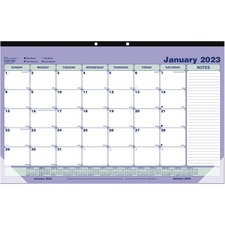 RED C181700 Rediform Monthly Desk Pad/Wall Calendar  REDC181700
