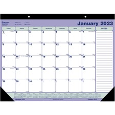 "Blueline Desk/Wall Calendar Pad - Monthly - 1 Year - January 2020 till December 2020 - 1 Month Single Page Layout - 21 1/4"" x 16"" - Desk Pad, Wall Mountable - White - Paper - Hanging Loop, Tear-off"