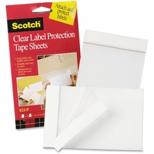 MMM 822P 3M Scotch Clear Label Protection Tape Sheets MMM822P