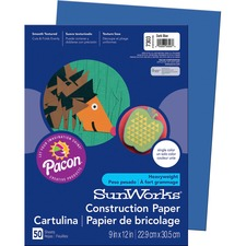 PAC 7303 Pacon SunWorks Heavyweight Construction Paper PAC7303