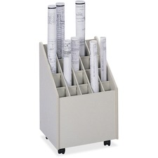 SAF 3082 Safco 20-compartment Mobile Roll Storage File SAF3082