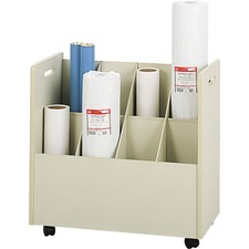 SAF 3045 Safco 8-Compartment Mobile Roll File SAF3045