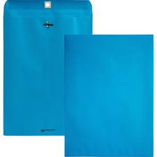 """Quality Park Brightly Colored 9x12 Clasp Envelopes - Clasp - #90 - 9"""" Width x 12"""" Length - 28 lb - Clasp - Wove - 10 / Pack - Blue"""