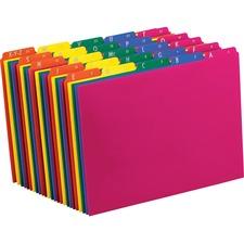 PFX 40142 Pendaflex Top Tab Assorted A-Z File Guides PFX40142