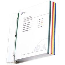 C-Line Colored Edge Sheet Protectors, assorted colors, 11 x 8 1/2, 50/BX, 62000