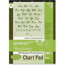 PAC 945610 Pacon Ecololgy Unruled Recycled Chart Pad PAC945610