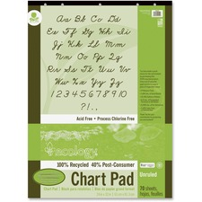 PAC 945510 Pacon Ecololgy Unruled Recycled Chart Pad PAC945510
