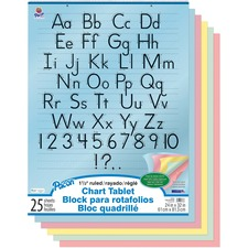 "Pacon Colored Paper Chart Tablet - 24"" x 32"" - 5 Assorted Colors - No - 25 / Each"