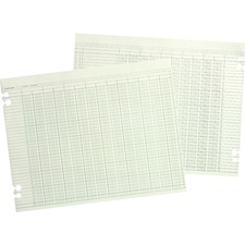 WLJ G3010 Acco/Wilson Jones 10-column Numbered Ledger Paper WLJG3010