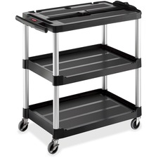 RCP 9T28 Rubbermaid Comm. Open 3-shelf Audio-Visual Cart RCP9T28