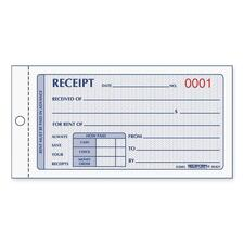 RED 8L821 Rediform Numbered Carbonless Rent Receipt Books RED8L821