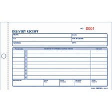 RED 6L614 Rediform Carbonless Delivery Receipt Books RED6L614