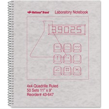 RED 43647 Rediform Quad-ruled Laboratory Notebook RED43647