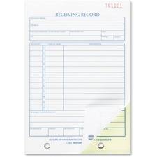 RED 2L259 Rediform Carbonless Receiving Record Slip Book RED2L259