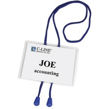 CLI 96053 C-Line Bolo Cord Hanging Style Name Badge Kit CLI96053