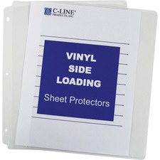 CLI 61313 C-Line Side-loading Clear Vinyl Sheet Protectors CLI61313
