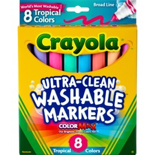 CYO 587816 Crayola Tropical Colors Pack Washable Markers CYO587816