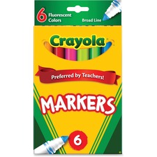 CYO 587748 Crayola Classic Broad Line Fluorescent Markers CYO587748