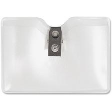 AVT 75412 Advantus Metal Clip Horizntl Security Badge Holder AVT75412