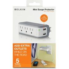 BLK BZ103050QTVL Belkin USB Charger Mini Surge Protector BLKBZ103050QTVL