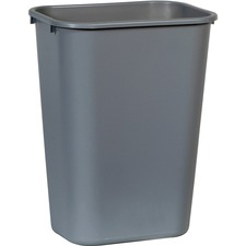 "Rubbermaid Standard Deskside Wastebasket - 10.31 gal Capacity - Rectangular - 20.0"" Height x 11.0\"" Width x 15.3\"" Depth - Polyethylene - Gray"