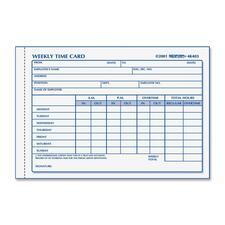 RED 4K403 Rediform Weekly Time Card Pad RED4K403