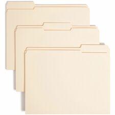 SMD 10434 Smead 2-ply 1/3-cut Tab Manila Folders SMD10434