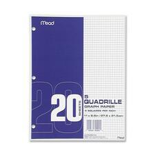 MEA 19030 Mead 5 Sq. Per Inch Quadrille Graph Paper MEA19030