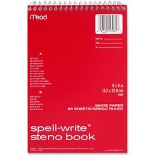 MEA 43082 Mead Spell-Write Gregg Rule Steno Book MEA43082