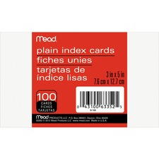MEA 63352 Mead 90 lb Stock Index Cards MEA63352