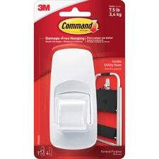 Command Jumbo Hook with Adhesive