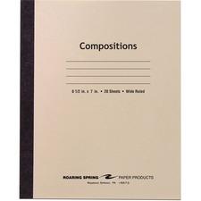 ROA 77340 Roaring Spring Wide Ruled 20-sheet Compositn Book ROA77340