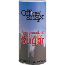 Office Snax Sugar - Sugar Canister - 20 oz - Powdered Sugar - 1 Each