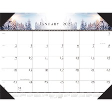 HOD 140HD Doolittle Recycled Illustrated Desk Pad Calendar HOD140HD