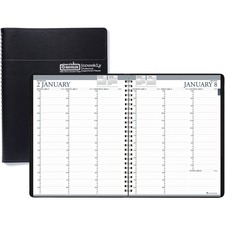 HOD 27202 Doolittle Black Professional 12-mth Weekly Planner HOD27202