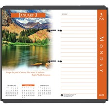HOD 417 Doolittle Earthscapes 17-Base Desk Calendar Refill HOD417
