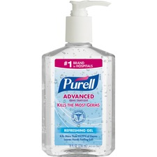 Purell Instant Hand Sanitizer - 8 fl oz (236.6 mL) - Pump Bottle Dispenser - Clear - Moisturizing - 1 Each