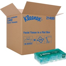 Kimberly-Clark Facial Tissue With Pop-Up Dispenser - 2 Ply - Gray - 100 Quantity Per Box