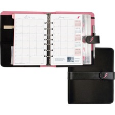 DTM 48391 Day-Timer Desk Size Pink Ribbon Binder Starter Set DTM48391