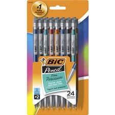 BIC Xtra-Precision Mechanical Pencils - # 2.5 Lead - 0.5 mm Lead Diameter - Assorted Barrel - 24 / Pack