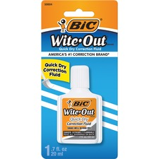 BIC WOFQDP1WHI Bic Wite-Out Quick Dry Correction Fluid BICWOFQDP1WHI