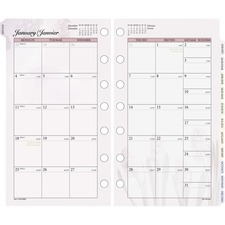 DRN 063685 Day Runner Nature Design Monthly Planner Refill DRN063685