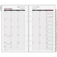 DRN 063685Y Day Runner Tabbed Monthly Calendar Refill DRN063685Y