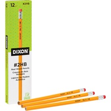 DIX 14402 Dixon Woodcase No.2 Eraser Pencils DIX14402