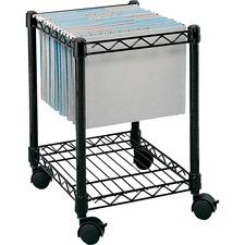 SAF 5277BL Safco Compact Mobile File Cart SAF5277BL