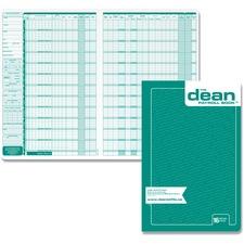 Dean & Fils 80016 Payroll Book