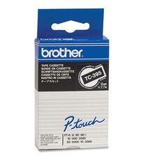 Brother TC Laminated Tape White/Black 9 mm