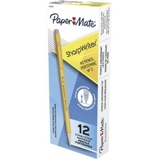 Paper Mate Sharpwriter Mechanical Pencil - Pencil Grade: #2 - Lead Size: 0.7mm - Barrel Color: Goldenrod - 12 / Dozen