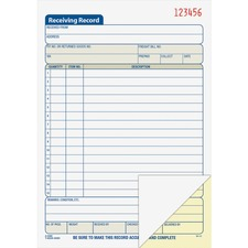 ABF DC5089 Adams Carbonless Receiving Record Book ABFDC5089